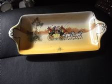 VINTAGE RARE SMALL SANDWICH BISCUIT TRAY PLATTER ROYAL DOULTON COACHING D2716